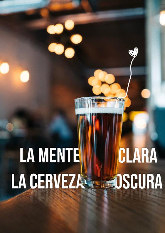 La mente clara y la cerveza oscura